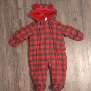 George plaid snowsuit